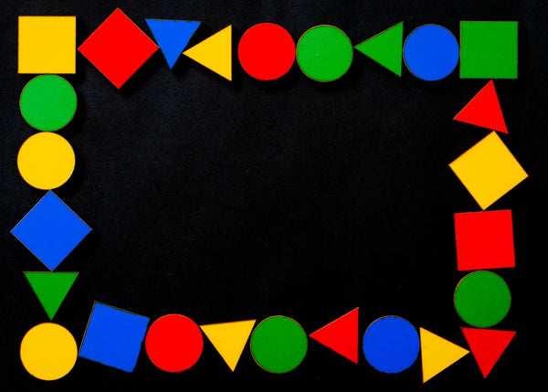 Colored shapes arranged in a pattern