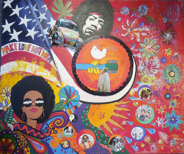 Woodstock colorful art painting