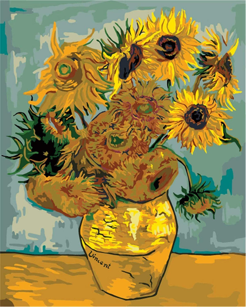 Sunflowers - Van Gogh 1888 - BestPaintByNumbers - Paint by Numbers Custom Kit