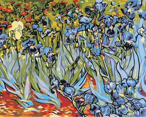 Irises - Van Gogh - BestPaintByNumbers - Paint by Numbers Custom Kit