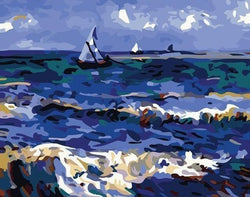 The Saintes Ocean - Van Gogh - BestPaintByNumbers - Paint by Numbers Custom Kit