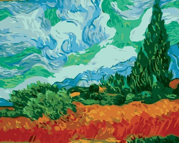 Wheatfield - Van Gogh - BestPaintByNumbers - Paint by Numbers Custom Kit