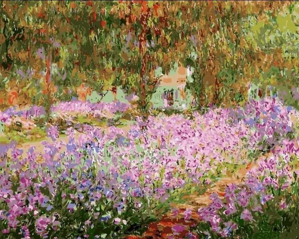 Irises in Monet's Garden - Claude Monet -1900 - BestPaintByNumbers - Paint by Numbers Custom Kit