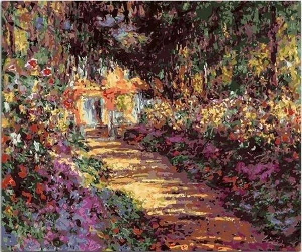 Pathway in Monet's Garden at Giverny - Claude Monet - BestPaintByNumbers - Paint by Numbers Custom Kit