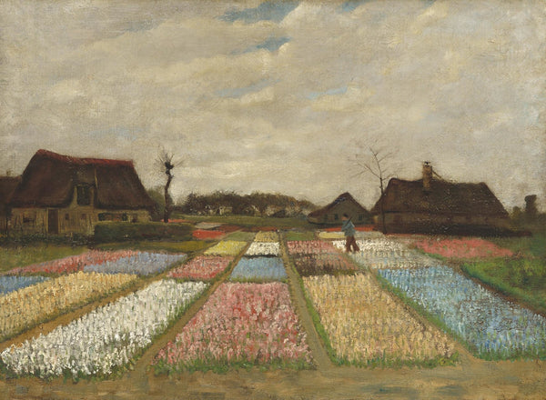 Flower Beds in Holland - Van Gogh 1883 - BestPaintByNumbers - Paint by Numbers Custom Kit