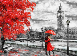 Love in London - BestPaintByNumbers - Paint by Numbers Custom Kit