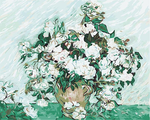 Roses - Van Gogh - BestPaintByNumbers - Paint by Numbers Custom Kit