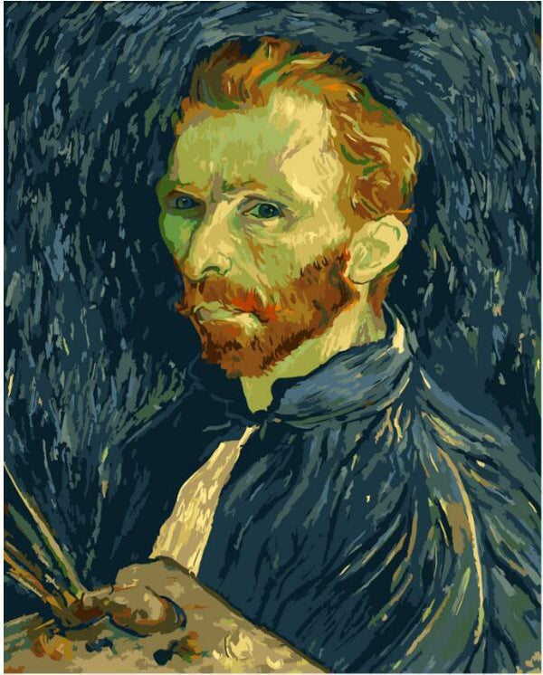 Van Gogh Self Portrait - Van Gogh - BestPaintByNumbers - Paint by Numbers Custom Kit