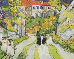 Stairway at Auvers - Van Gogh - 1890 - BestPaintByNumbers - Paint by Numbers Custom Kit