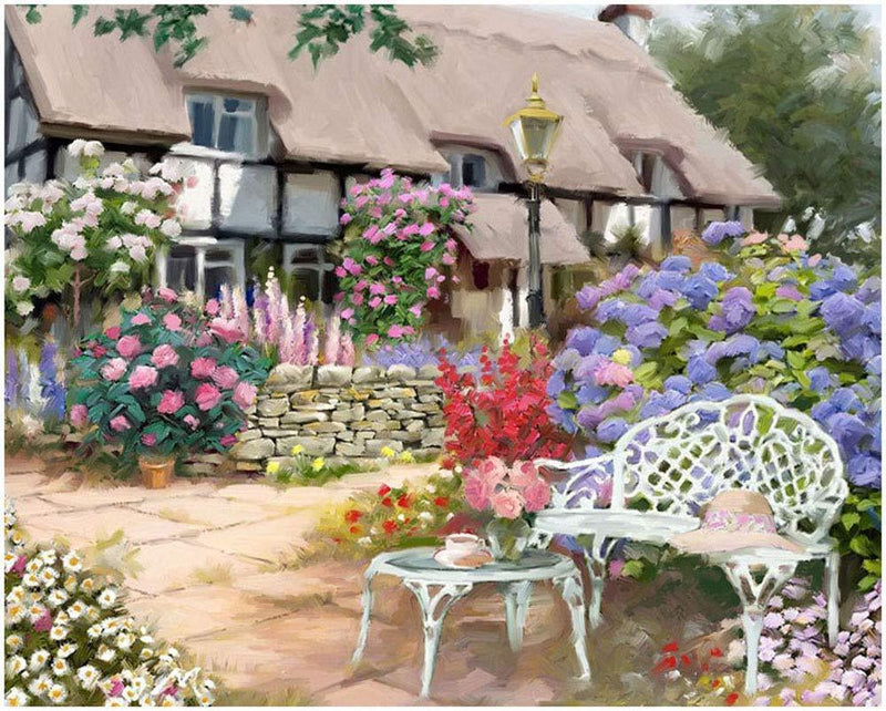 House of Flowers - BestPaintByNumbers - Paint by Numbers Custom Kit