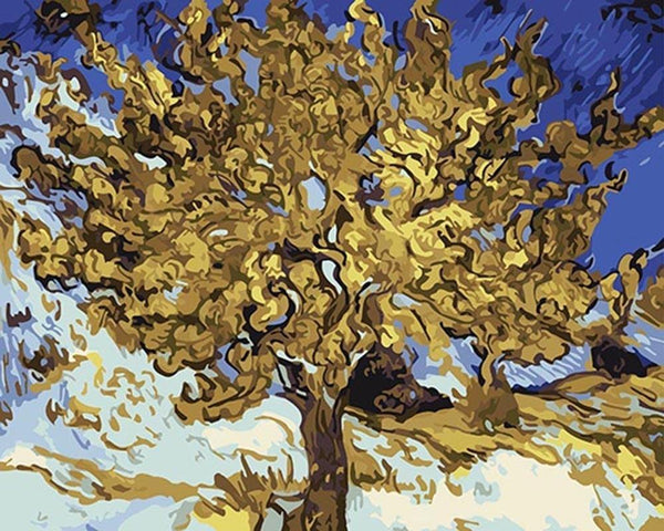 Mulberry Tree - Van Gogh - BestPaintByNumbers - Paint by Numbers Custom Kit