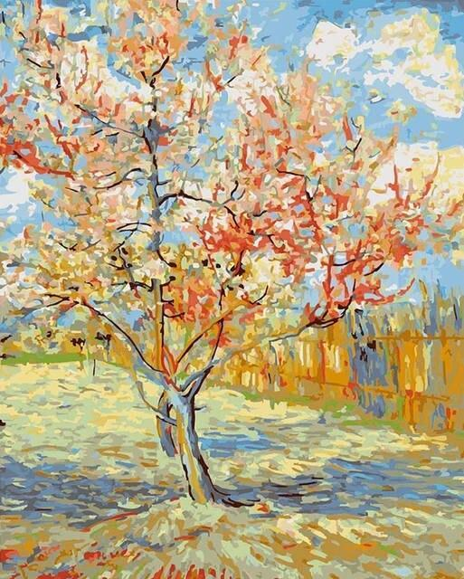 Pink Peach Trees - Van Gogh - BestPaintByNumbers - Paint by Numbers Custom Kit