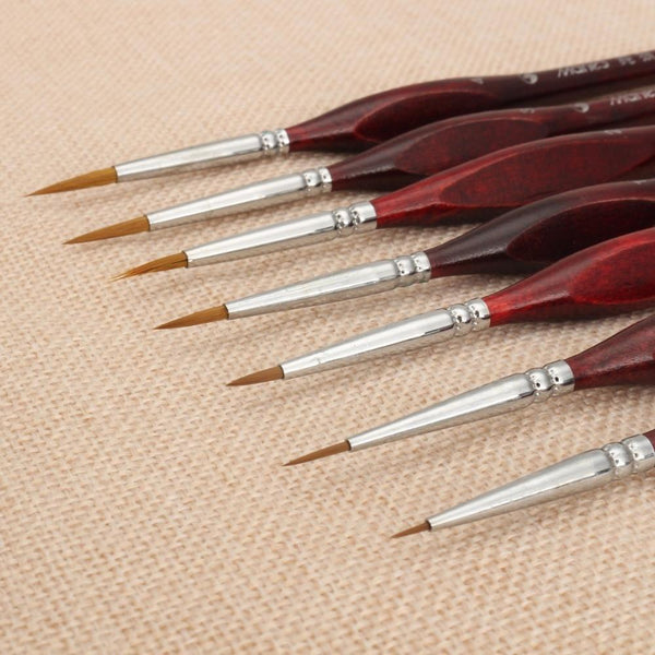 7x Premium Quality Paint Brushes - BestPaintByNumbers - Paint by Numbers Custom Kit