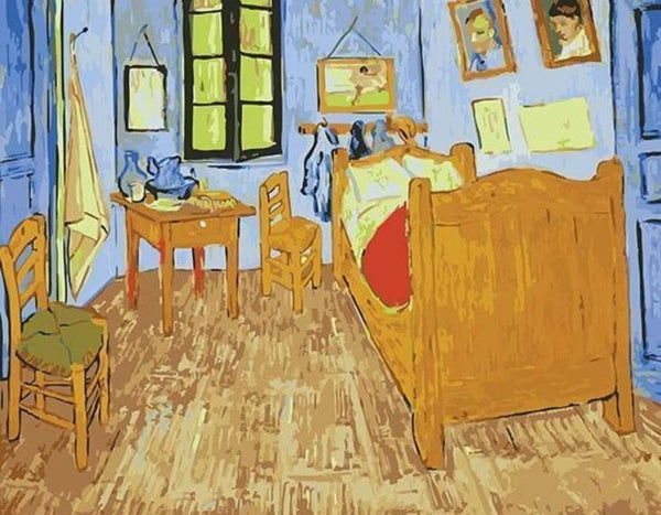 The Yellow House - Van Gogh - BestPaintByNumbers - Paint by Numbers Custom Kit
