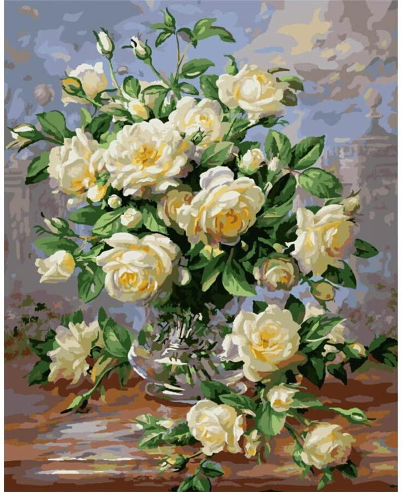 Yellow Flowers Still Life - BestPaintByNumbers - Paint by Numbers Custom Kit