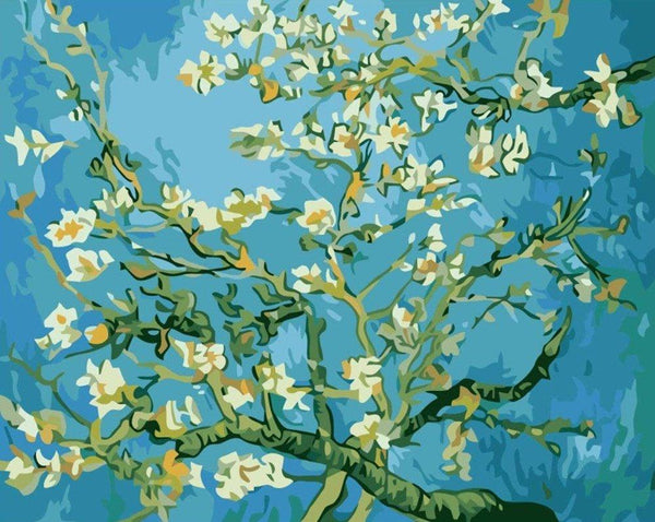 Almond Blossoms - Van Gogh - BestPaintByNumbers - Paint by Numbers Custom Kit
