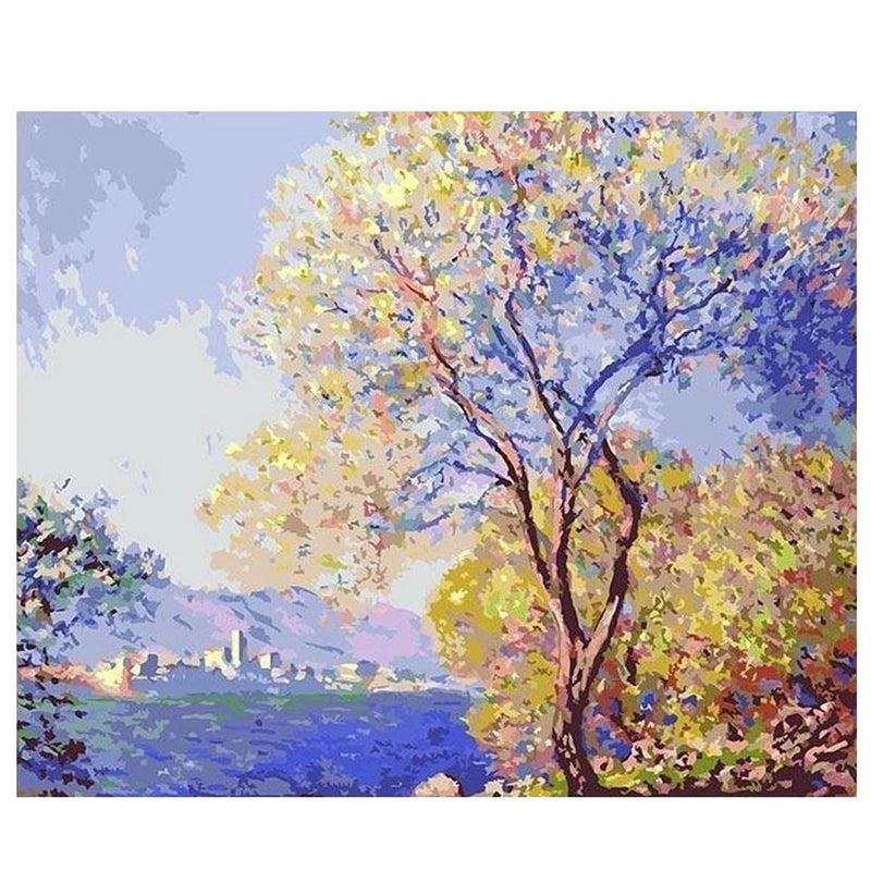 Antibes Seen from the Salis Gardens 01 - Claude Monet - BestPaintByNumbers - Paint by Numbers Custom Kit