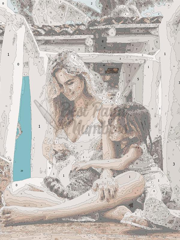 Custom Family Portrait Painting - BestPaintByNumbers - Paint by Numbers Custom Kit