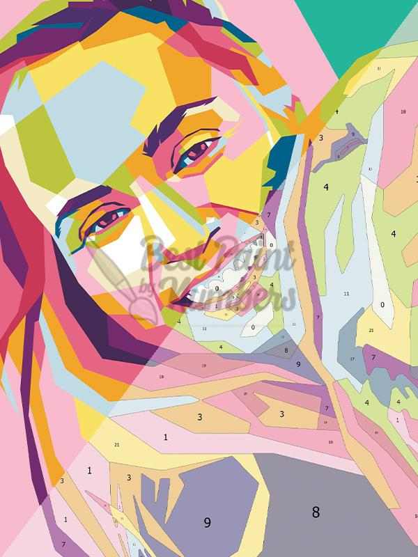 Custom Pop Art Portrait - BestPaintByNumbers - Paint by Numbers Custom Kit