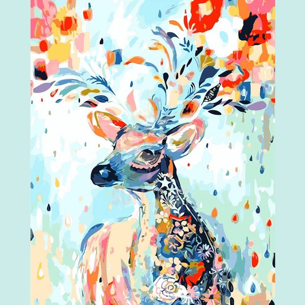 Enchanting Deer - BestPaintByNumbers - Paint by Numbers Custom Kit