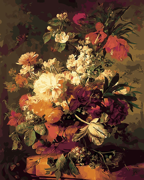 Flowers in a Vase - Jan Van Huysum - BestPaintByNumbers - Paint by Numbers Custom Kit