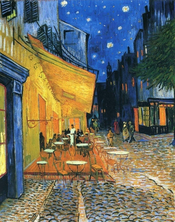 *FREE* Café Terrace at Night [Vincent van Gogh] - BestPaintByNumbers - Paint by Numbers Custom Kit