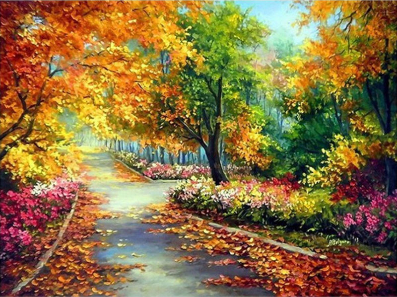*FREE* Walk through the Autumn Forest - BestPaintByNumbers - Paint by Numbers Custom Kit