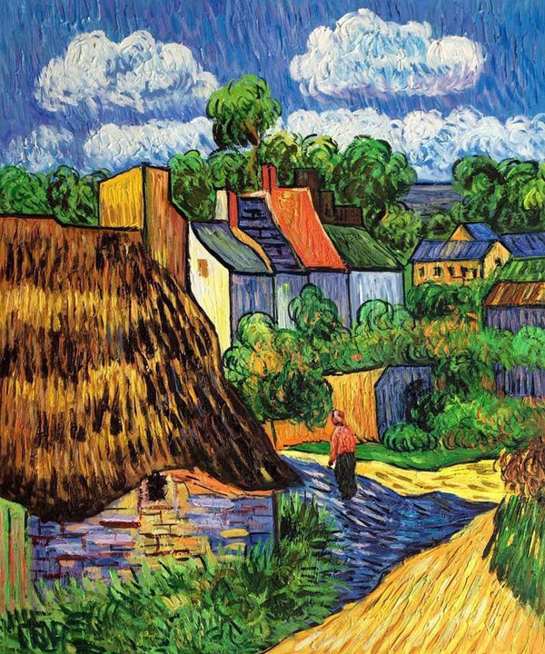 Houses in Auvers - Van Gogh - 1890 - BestPaintByNumbers - Paint by Numbers Custom Kit