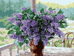Lilacs on a Sunday Morning - BestPaintByNumbers - Paint by Numbers Custom Kit