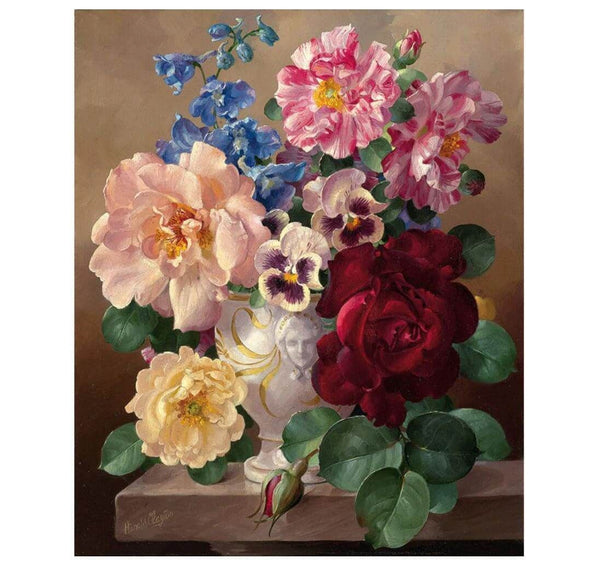 Pansies, Roses, and Everything in Between - BestPaintByNumbers - Paint by Numbers Custom Kit