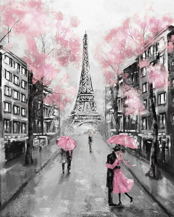 Pink in Paris - BestPaintByNumbers - Paint by Numbers Custom Kit