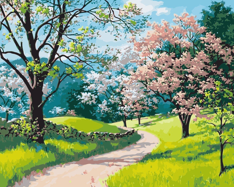 Spring Day - BestPaintByNumbers - Paint by Numbers Custom Kit