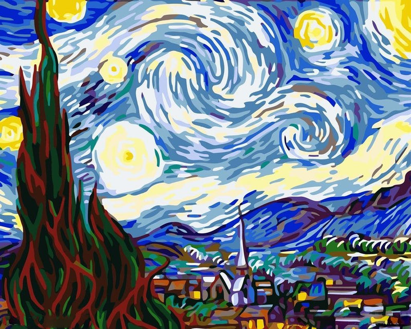 Starry Night - Van Gogh - BestPaintByNumbers