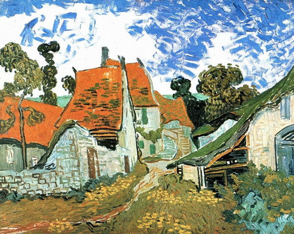 Street in Auvers - Van Gogh - 1890 - BestPaintByNumbers - Paint by Numbers Custom Kit