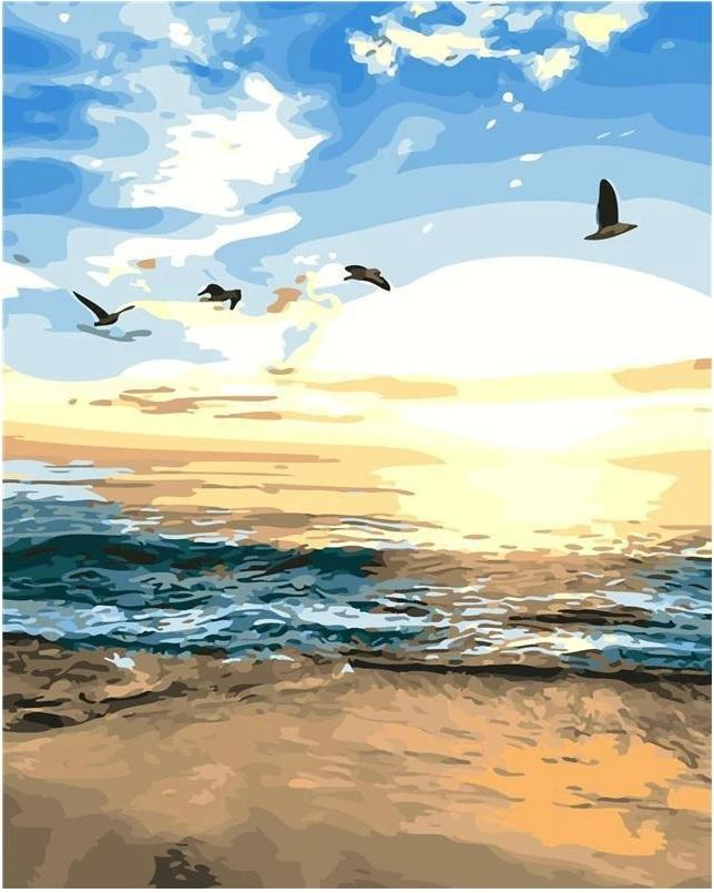 Sunset At The Beach - BestPaintByNumbers - Paint by Numbers Custom Kit