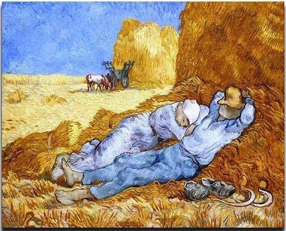 The siesta (after Millet) - Van Gogh - BestPaintByNumbers