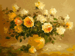 Warmth in Yellow Roses - BestPaintByNumbers