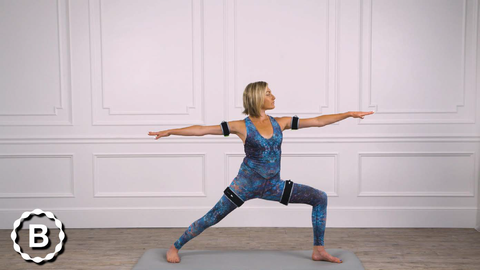 Warrior Two: using B Strong BFR Bands with Yoga