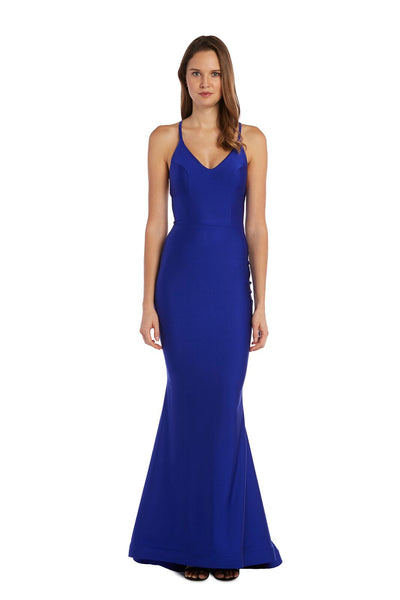 Cross Back Ruched Gown