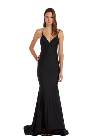 Gown with Spaghetti Straps