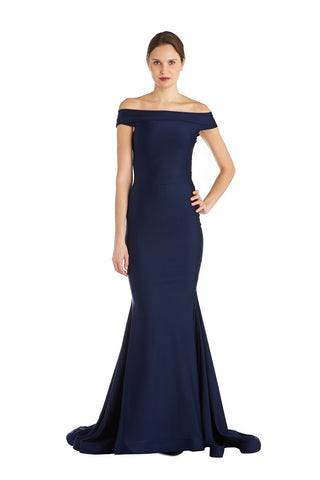 Gown with Off-The-Shoulder Neckline