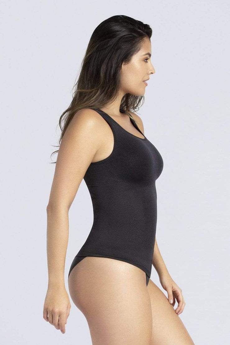 NCDI FASHION SHAPE BLACK / S ESSENTIAL SHAPING SQUARE NECK CONTROL TANK LUNAVUE Shapewear