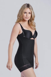 NCDI Post-Surgical Shapewear BLACK / XS POST-SURGICAL FULL BODY SHORT SECOND STAGE SHAPER LUNAVUE Shapewear