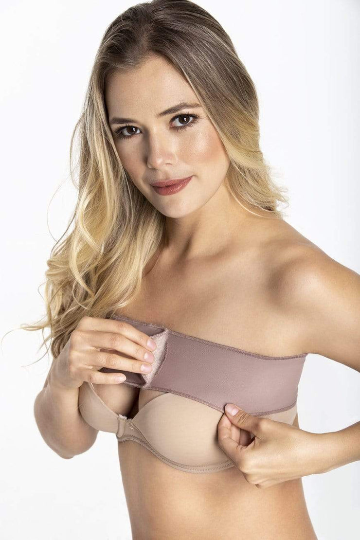 NCDI Post-Surgical Shapewear COCOA / M POST-SURGICAL BREAST BAND LUNAVUE Shapewear