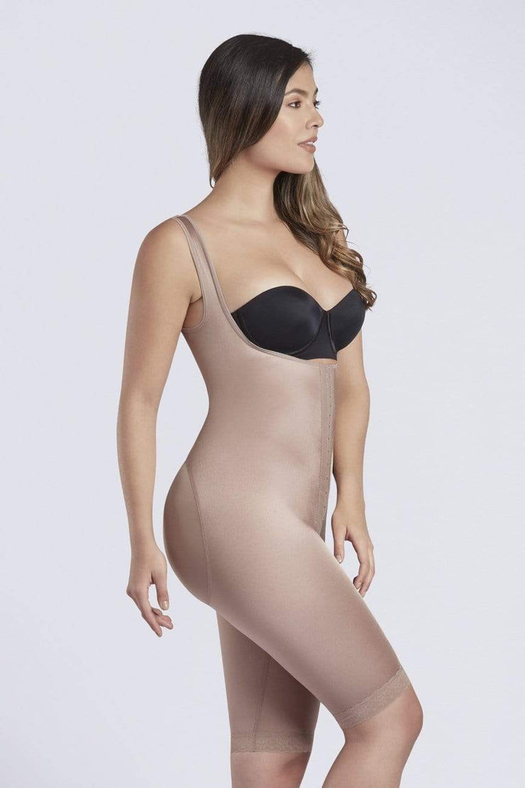 NCDI Post-Surgical Shapewear COCOA / S POST-SURGICAL FULL BODY LONG FIRST STAGE SHAPER LUNAVUE Shapewear