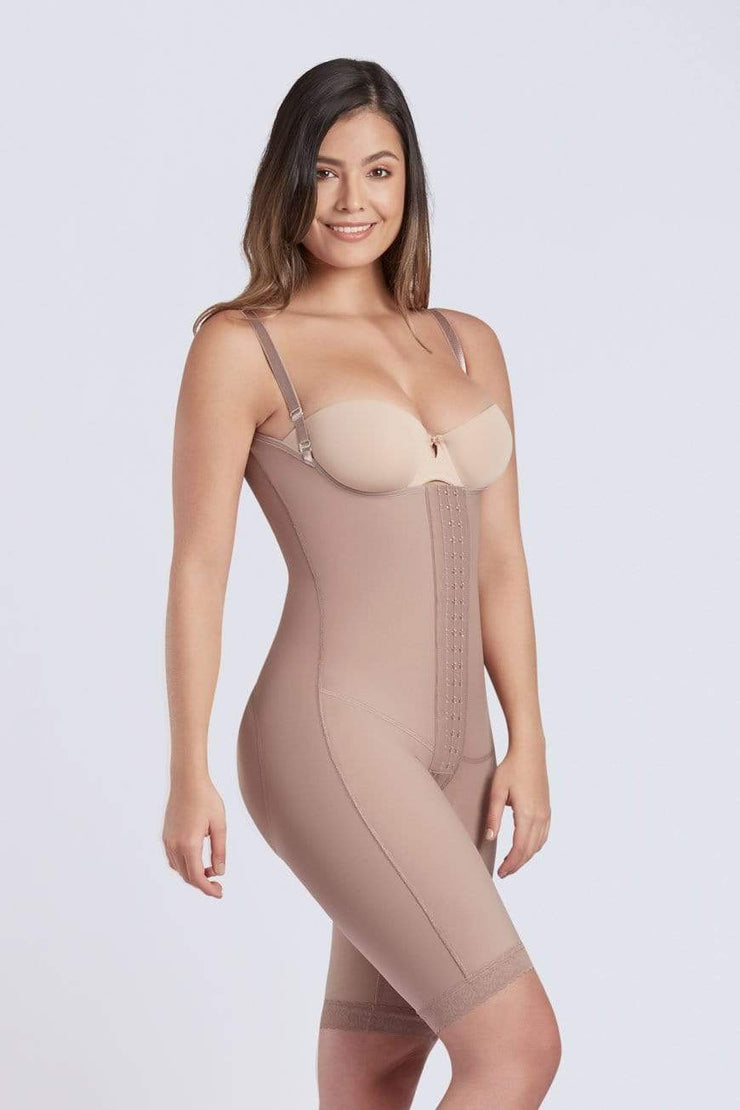NCDI Post-Surgical Shapewear COCOA / XS POST-SURGICAL FULL BODY LONG SECOND STAGE SHAPER LUNAVUE Shapewear