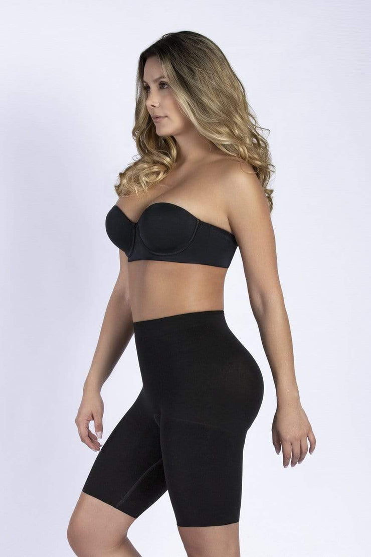 NCDI SEAMLESS BLACK / XS SECOND SKIN SEAMLESS BUTT-LIFT THIGH SLIMMER LUNAVUE Shapewear