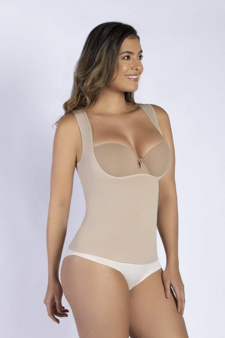 NCDI SEAMLESS NUDE / S ESSENTIAL OPEN BUST SEAMLESS CONTROL TANK LUNAVUE Shapewear