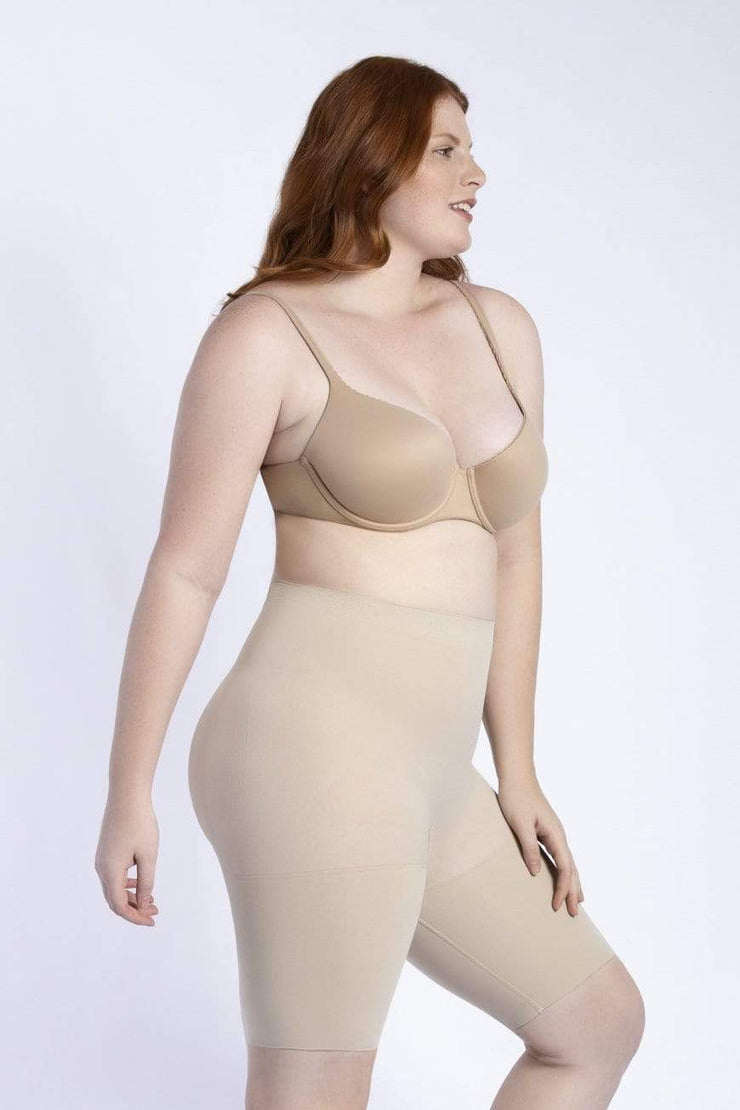 NCDI SEAMLESS NUDE / XS SECOND SKIN SEAMLESS BUTT-LIFT THIGH SLIMMER LUNAVUE Shapewear