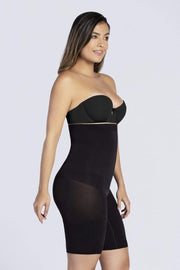 NCDI SHAPEWEAR BLACK / S COMFORT EVOLUTION HIGH-WAIST THIGH SLIMMER LUNAVUE Shapewear